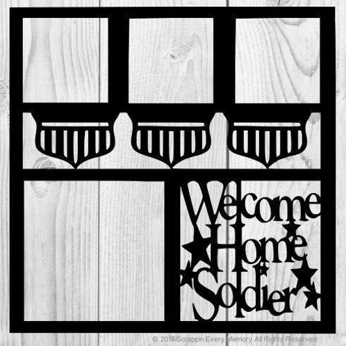 Welcome Home Soldier Scrapbook Overlay