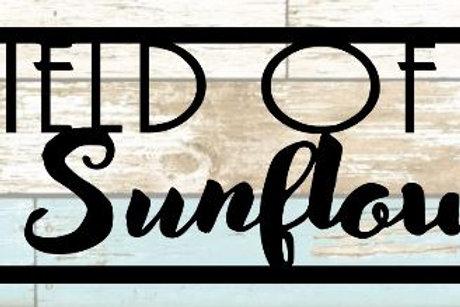 Field Of Sunflowers Scrapbook Title