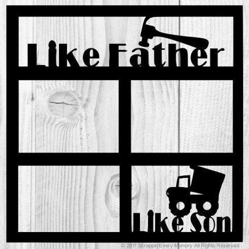 Like Father Like Son Scrapbook Overlay