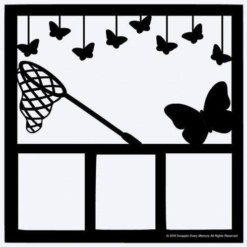 Butterflies Scrapbook Overlay