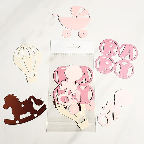 Baby Girl Die Cut Silhouette Mini Set