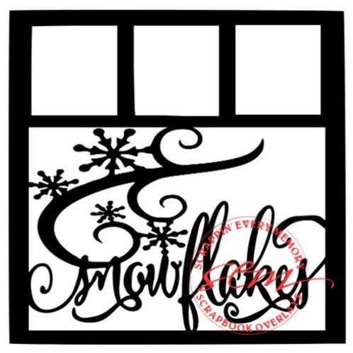 Snowflakes Scrapbook Overlay