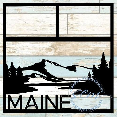 Maine Scrapbook Overlay
