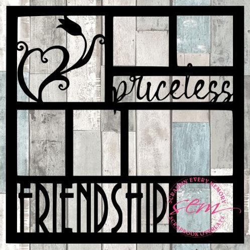 Priceless Friendship Scrapbook Overlay