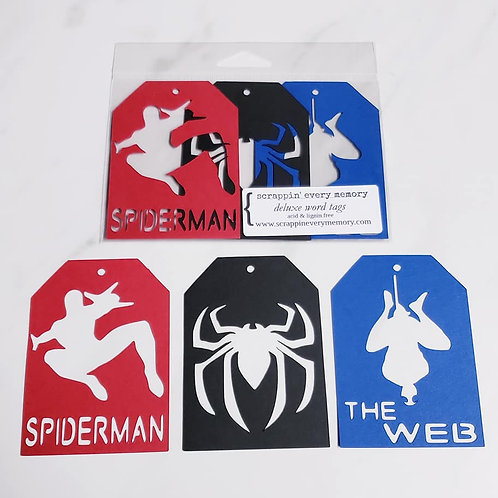 Spiderman Deluxe Word Tags