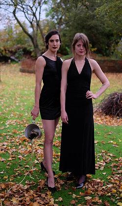 Black halter dress mt 36