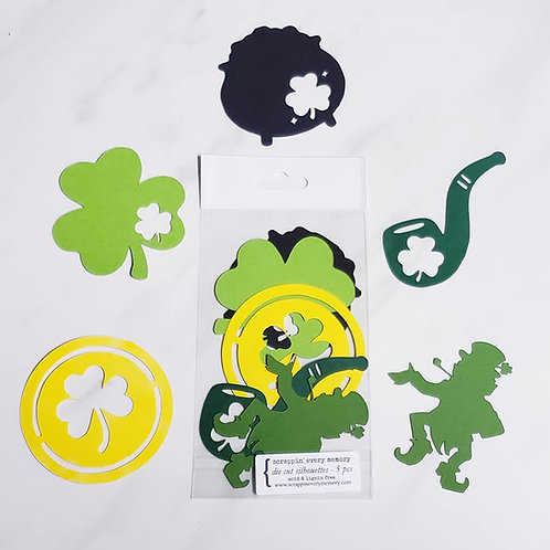 St. Patrick's Day Die Cut Silhouette Mini Set