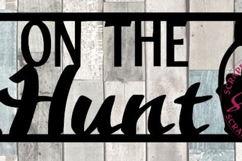 On The Hunt Scrapbook Title