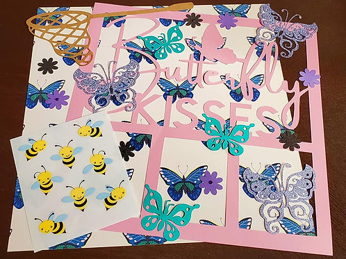 Butterfly Kisses Scrapbook Page Kits