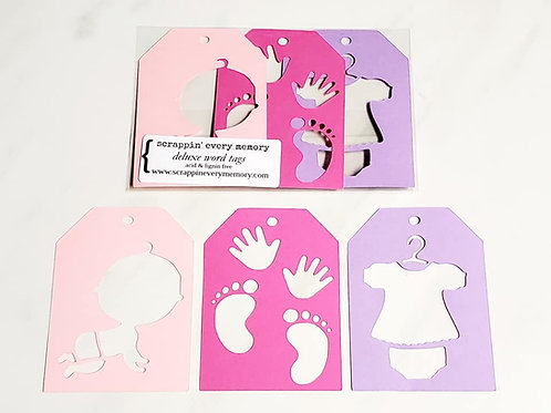 Baby Girl Deluxe Word Tags