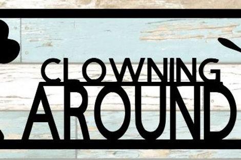 Clowning Around Scrapbook Title