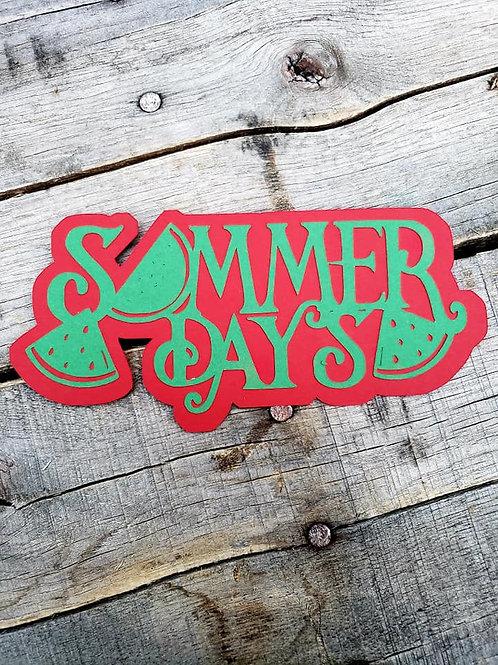 Summer Days Paper Piecing Die Cut