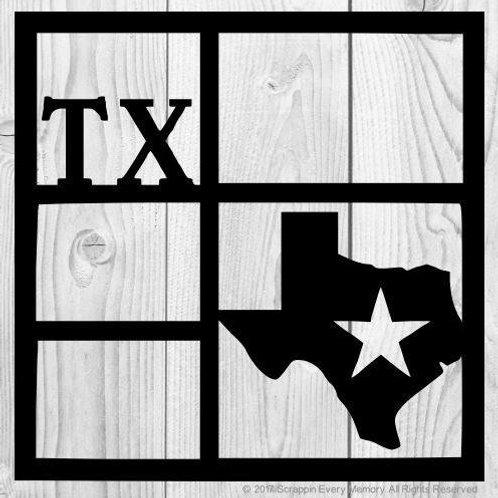 Texas Scrapbook Overlay