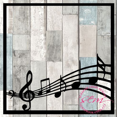 Music Bar Scrapbook Overlay