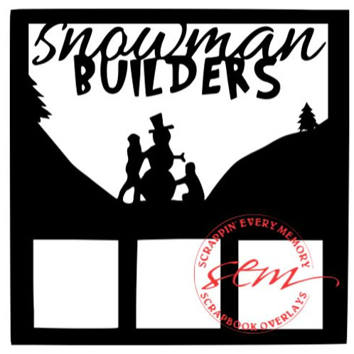 Snowman Builders Scrapbook Overlay