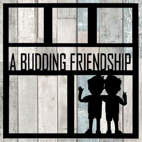A Budding Friendship Scrapbook Overlay