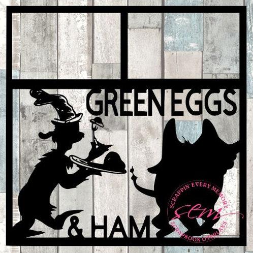 Green Eggs & Ham Scrapbook Overlay