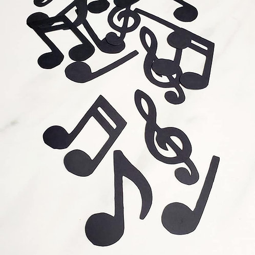 Music Notes Scrapbook Page Confetti