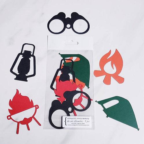 Camping Die Cut Silhouette Mini Set