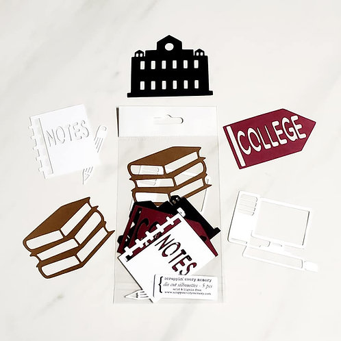 College Die Cut Silhouette Mini Set