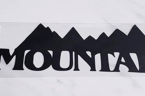 Mountains Scrapbook Deluxe Die Cut