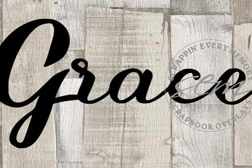 Grace Scrapbook Page Script Single
