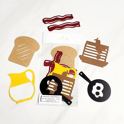 Breakfast Die Cut Silhouette Mini Set