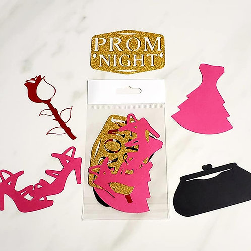 Prom Night Die Cut Silhouette Mini Set