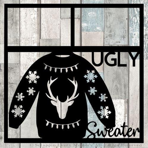 Ugly Sweater Scrapbook Overlay