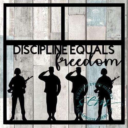 Discipline Equals Freedom Scrapbook Overlay