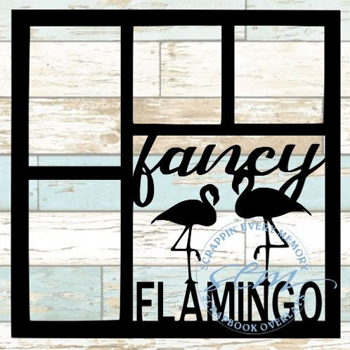 Fancy Flamingo Scrapbook Overlay
