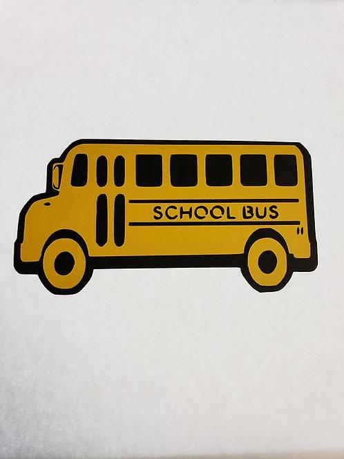 School Bus Paper Piecing Die Cut