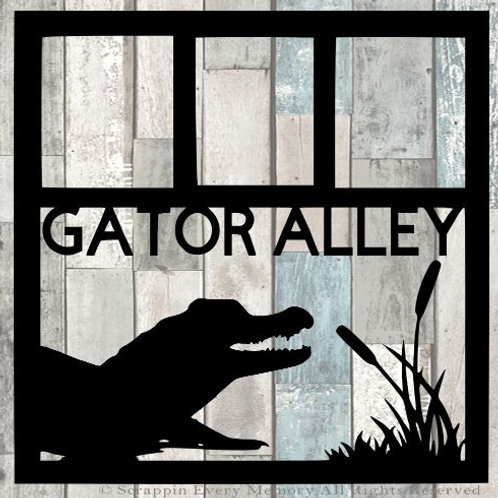 Gator Alley Scrapbook Overlay