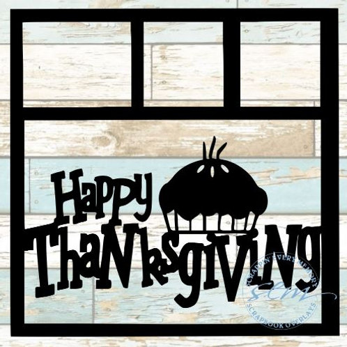 Happy Thanksgiving Scrapbook Overlay