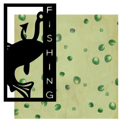 Fishing Vertical Scrapbook Title