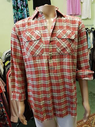 Geblokte blouse M