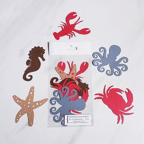 Sea Theme Die Cut Silhouette Mini Set