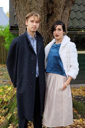 Original sixties deepblue coat L / XL