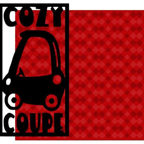 Cozy Coupe Vertical Scrapbook Title