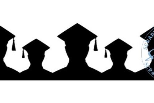 Male Graduate Scrapbook Border
