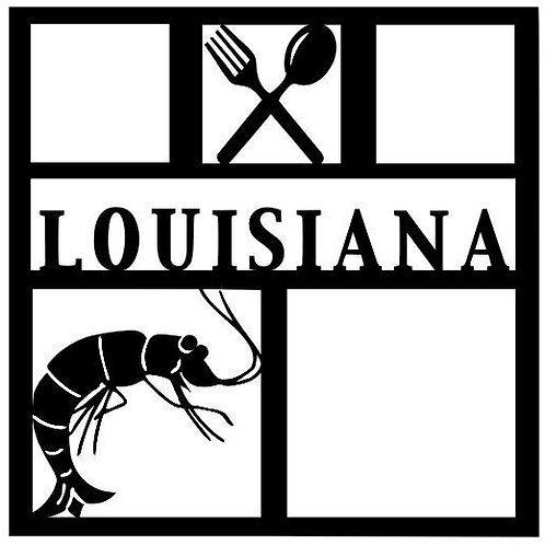 Louisiana Scrapbook Overlay