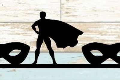 Superhero Scrapbook Border