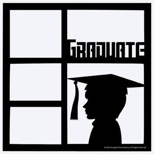 Male Graduate Scrapbook Overlay