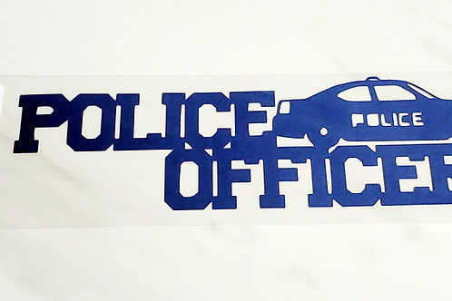 Police Officer Scrapbook Deluxe Die Cut