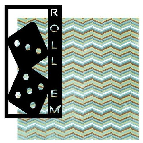 Roll Em' Vertical Scrapbook Title