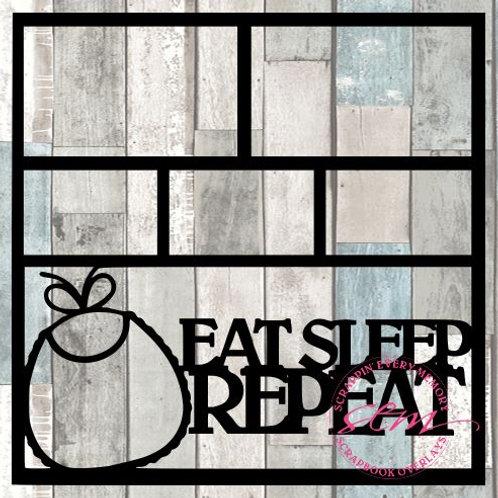 Eat Sleep Repeat Scrapbook Overlay