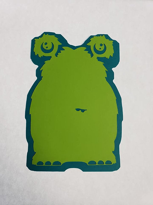 Cute Monster Paper Piecing Die Cut