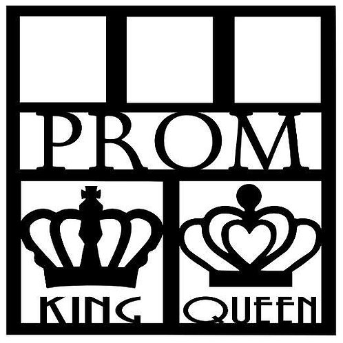 Prom King & Queen Scrapbook Overlay