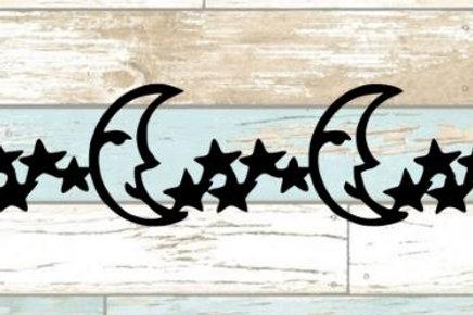Moon and Stars Scrapbook Border