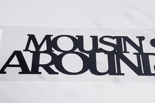 Mousin' Around Scrapbook Deluxe Die Cut